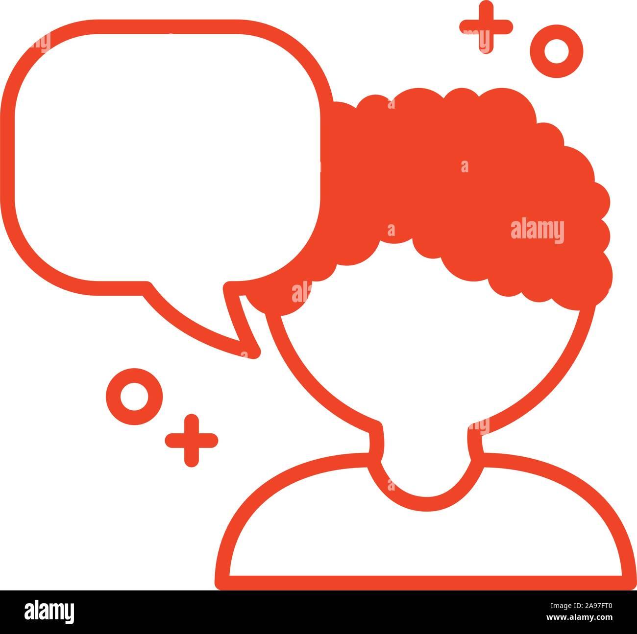 Bulle de communication et design, l'icône de l'homme discussion Message conversation talk et la technologie Vector illustration Illustration de Vecteur