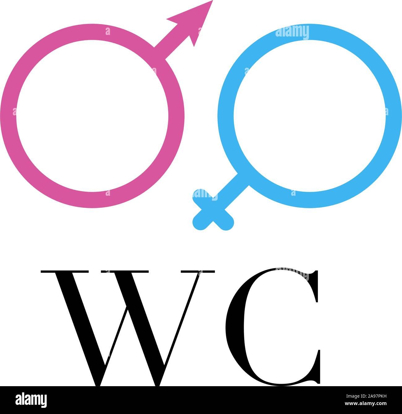 Toilettes signer vector illustration. Design plat, simplement pour logo, objets et icônes. De bain pour hommes, femmes, mesdames, messieurs. Illustration de Vecteur