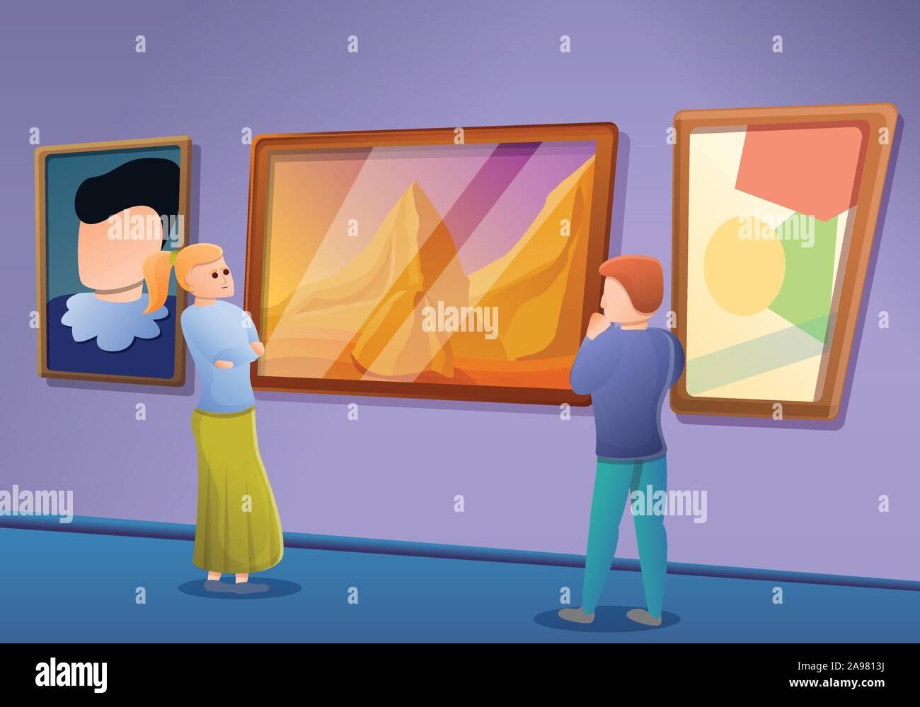 Photo gallery concept excursion bannière. Cartoon illustration de photo gallery concept vecteur d'excursion pour bannière web design Illustration de Vecteur