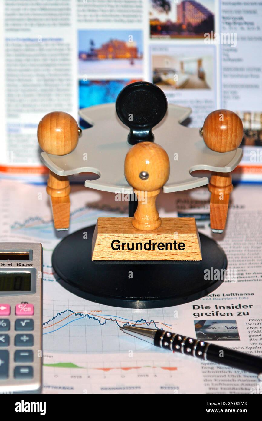 Stempel mit der Aufschrift: Grundrente Banque D'Images
