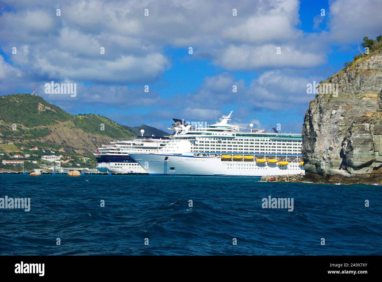 Franzoesiche Karibik; Antillen; Sint Maarten; Saint-Martin; Kreuzfahrtschiff Banque D'Images