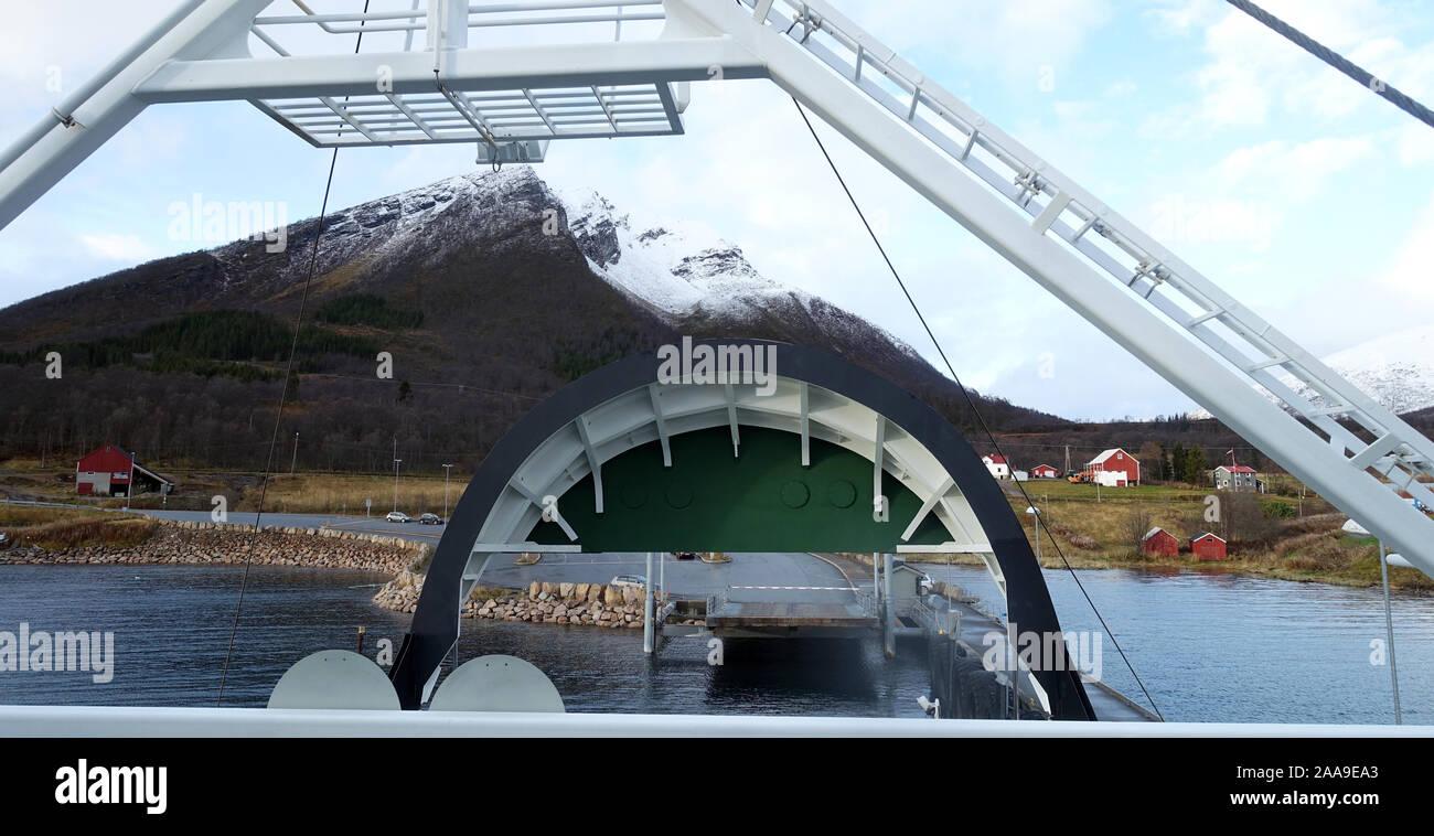 Refsnes - Norvège ferry Flesnes Banque D'Images