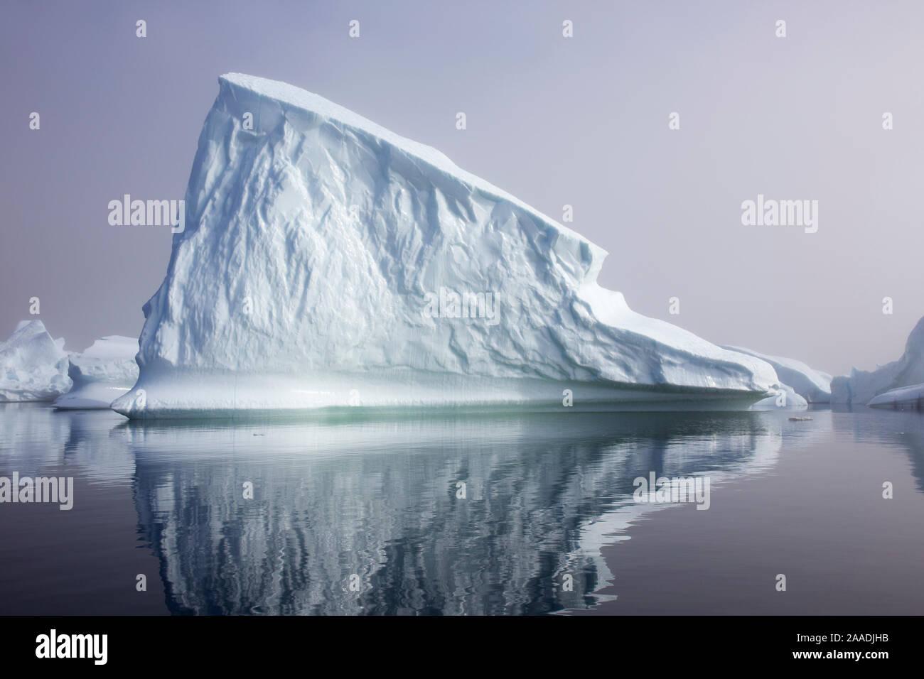 Iceberg dans la mer à l'extérieur le Fjord glacé d'Ilulissat UNESCO World Heritage Site, Groenland, août 2014. Pour le Projet Eau douce photographié. Banque D'Images
