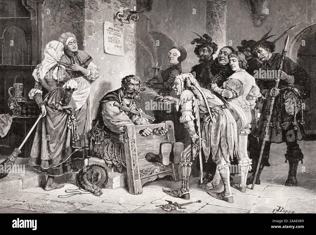 La répression des infractions pénales, l'Allemagne, l'Europe, 16e siècle Banque D'Images