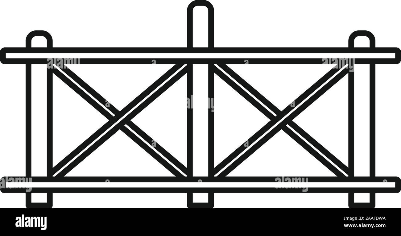 L'icône de clôture en bois. Clôture en bois contour icône vecteur pour la conception web isolé sur fond blanc Illustration de Vecteur