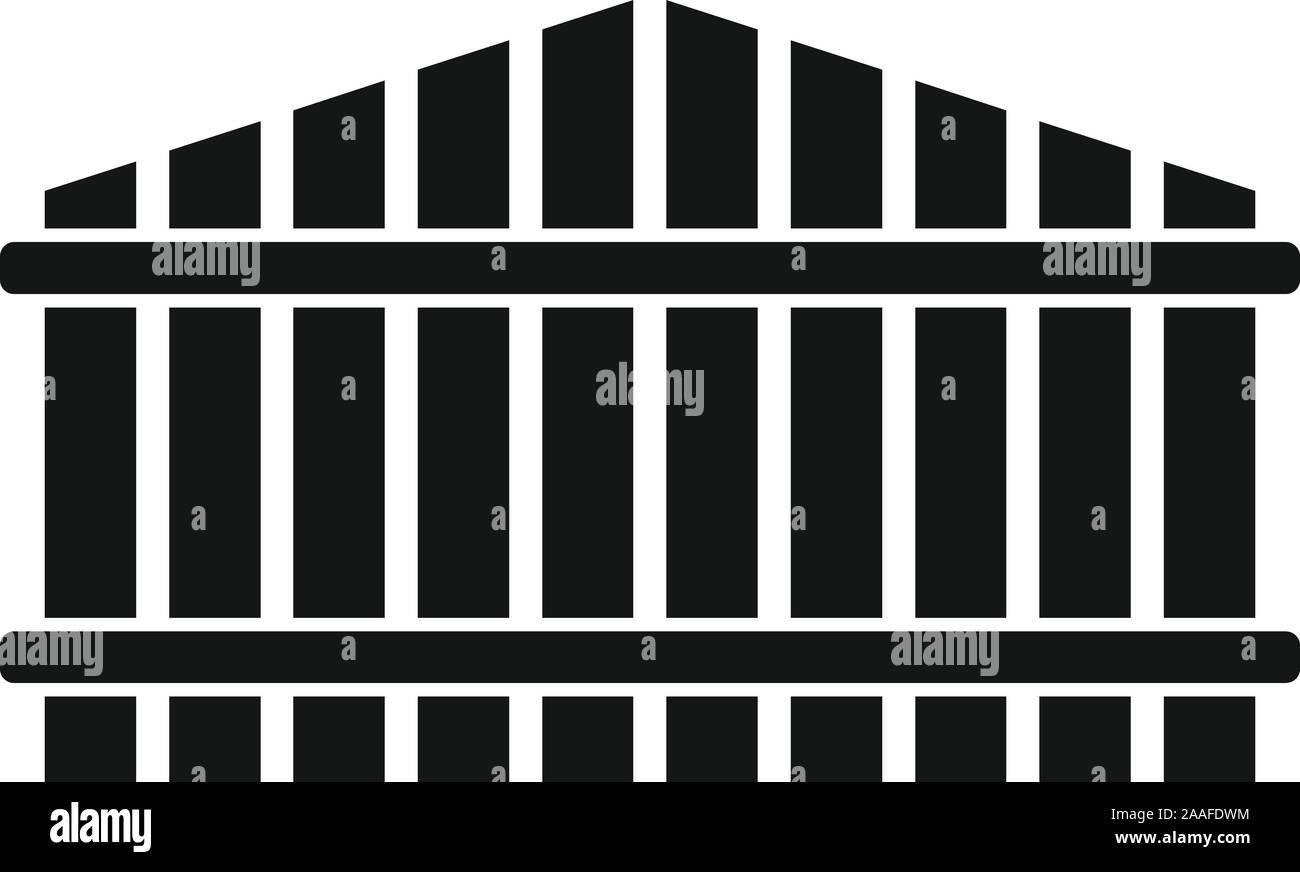 Clôture accueil icône. Simple illustration de clôture accueil icône vecteur pour la conception web isolé sur fond blanc Illustration de Vecteur