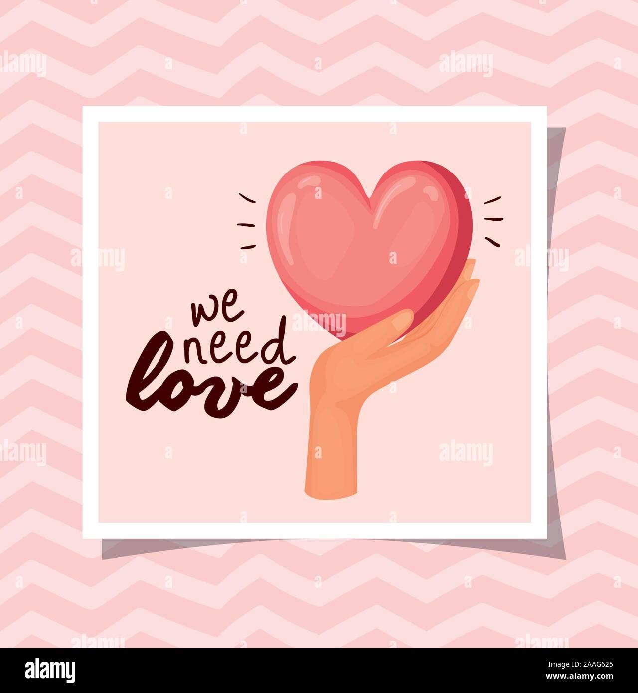 L'amour des droits de l'homme vecteur conception concept Illustration de Vecteur