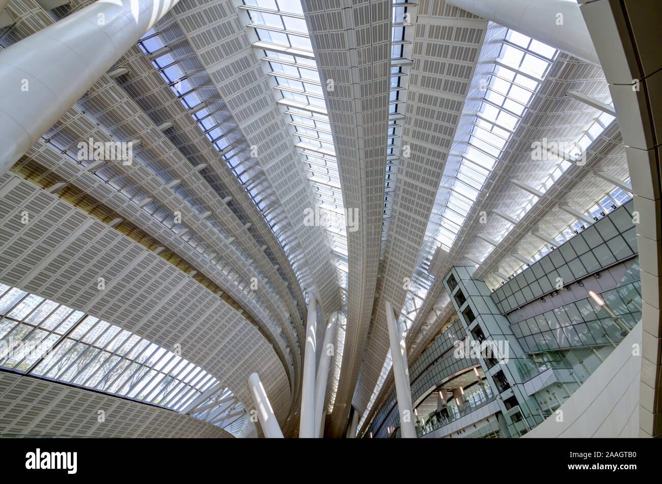 Hong Kong à l'Ouest gare de Kowloon Banque D'Images
