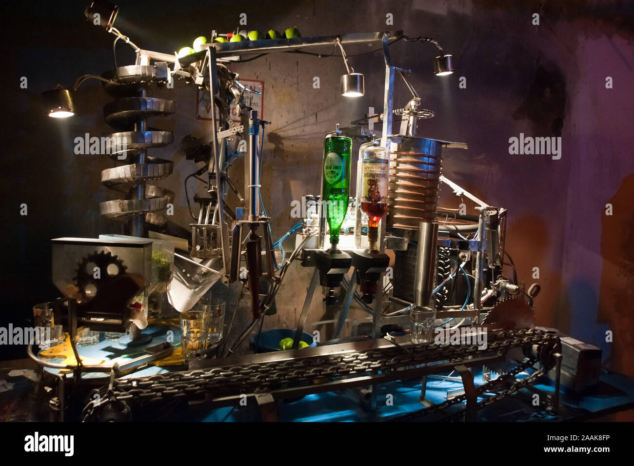 Wien, Roboexotica, Roboter Boissons mixen Banque D'Images