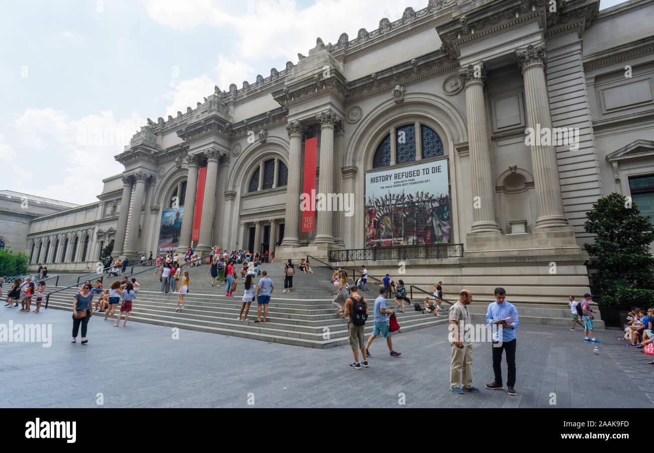 New York, USA - 20 août 2018: Le Metropolitan Museum of Art situé dans la ville de New York. Banque D'Images