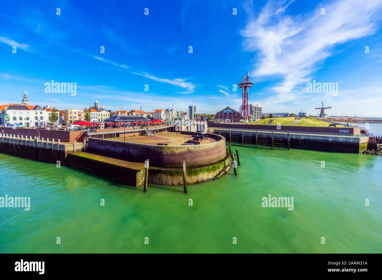 Pays-bas, Zeeland, Vlissingen, port d'accueil Banque D'Images