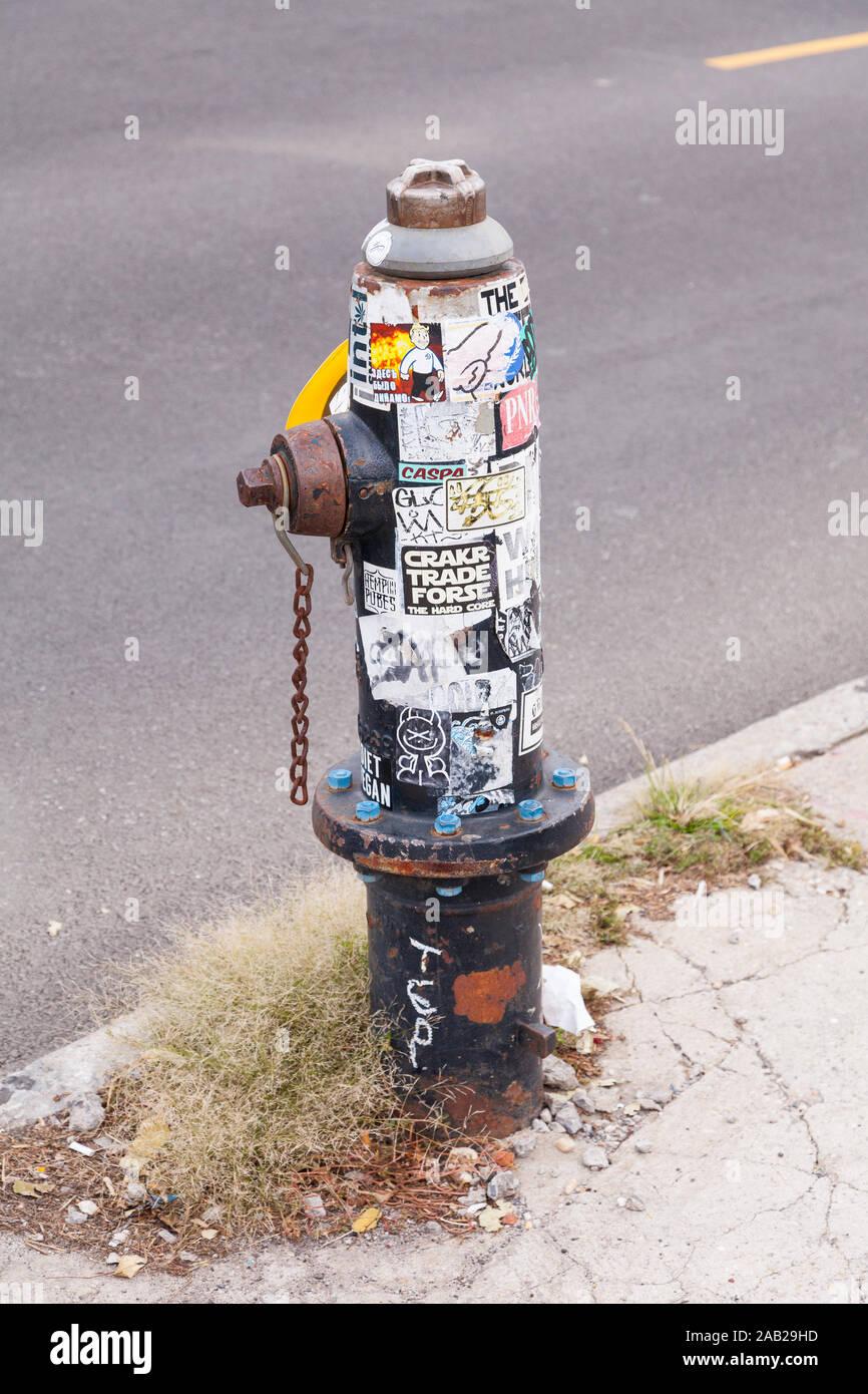 Poteau incendie, Coney Island, Brooklyn, New York , États-Unis d'Amérique. Banque D'Images