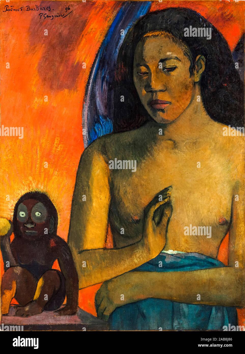 Paul Gauguin, Poèmes barbares, Poèmes (Savage), peinture, 1896 Banque D'Images