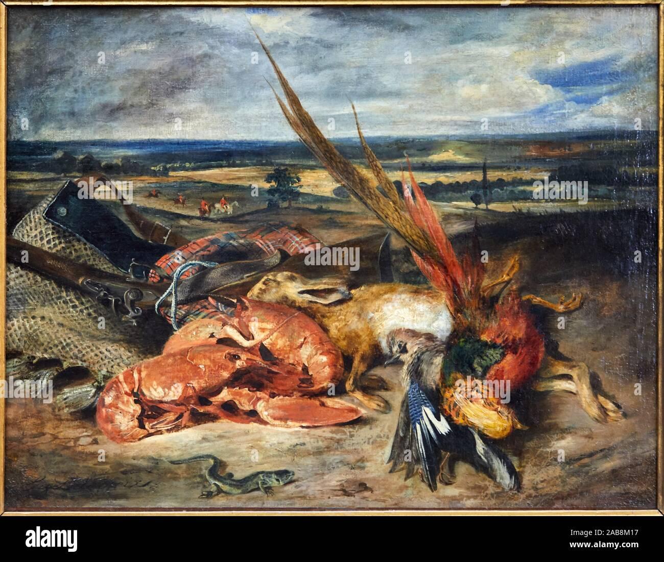 '''Still Life'' avec les homards, 1827, Eugène Delacroix, 1798-1863, Musée du Louvre, Paris, France, Europe Banque D'Images