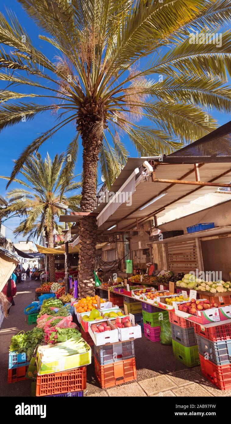 Le souk arabe dans la ville de Haïfa, en Israël. , Moyen Orient. Banque D'Images