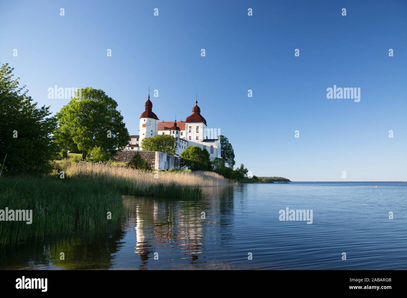 Schloss Läckö en Västergötland auf der Insel im Kallandsö Vänern gehört zu den Barockschlössern Schwedens. Banque D'Images