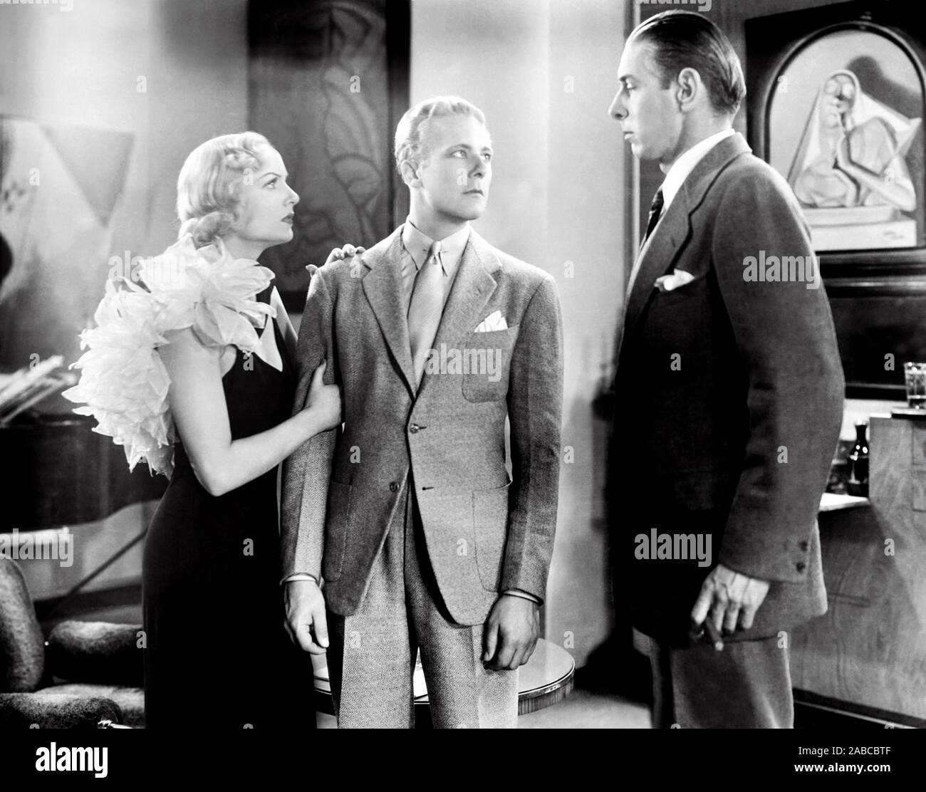 Bref moment, de gauche, Carole Lombard, Gene Raymond, Arthur Hohl, 1933 Banque D'Images