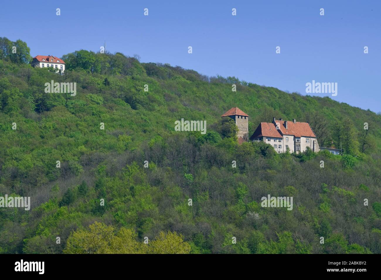 Paschenburg und Burg Schaumburg, Rinteln, Weserbergland, Niedersachsen, Deutschland Banque D'Images