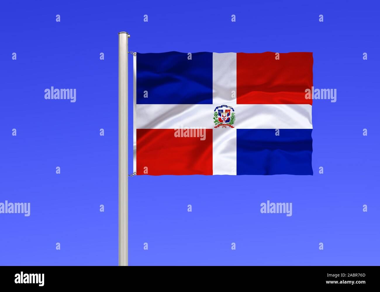 Flagge von Dominikanische Republik Banque D'Images