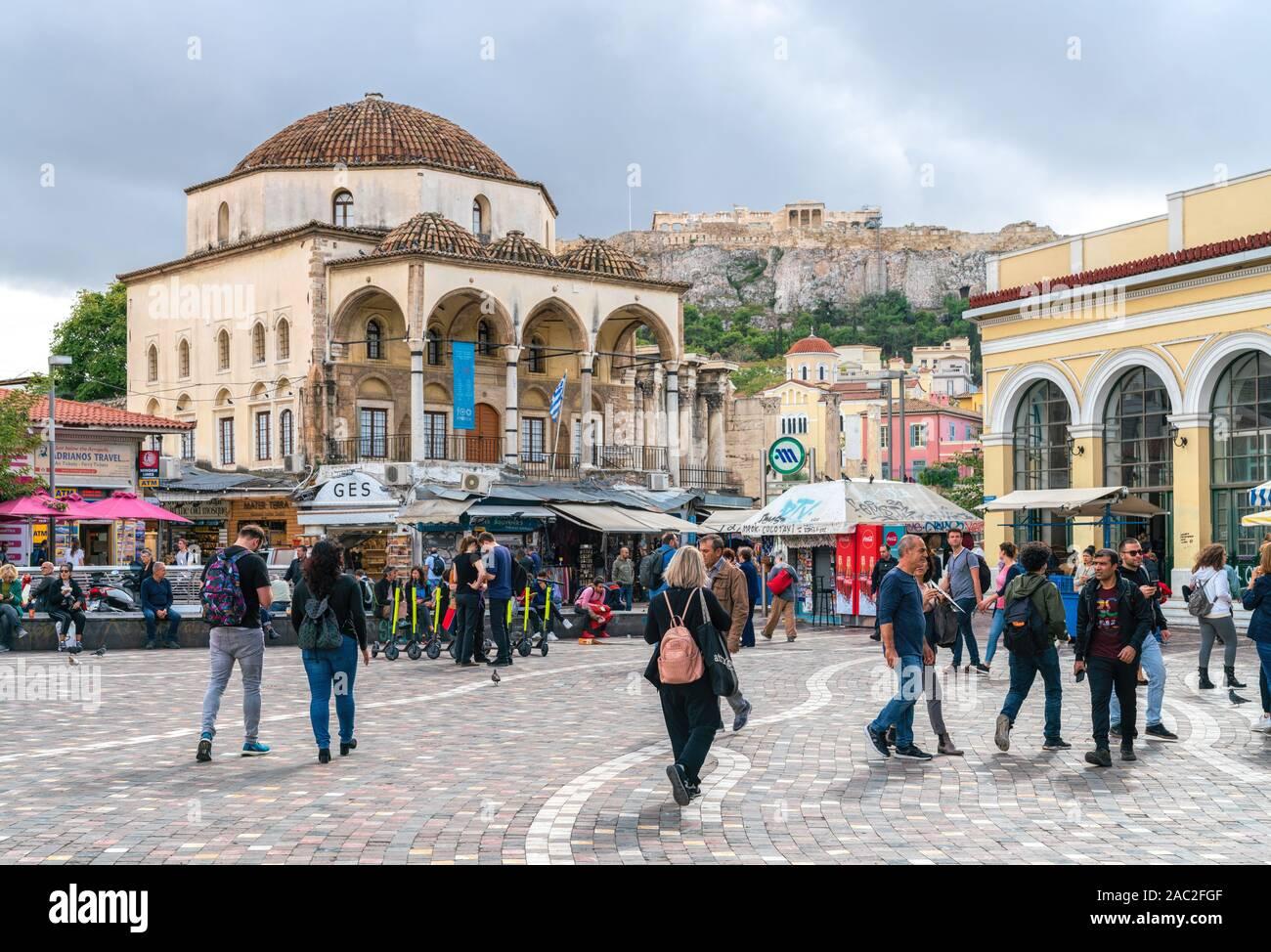 4ème Nov 2019 - Athènes, Grèce. Tzistarakis mosquée ottomane à la place Monastiraki au centre d'Athènes. Banque D'Images