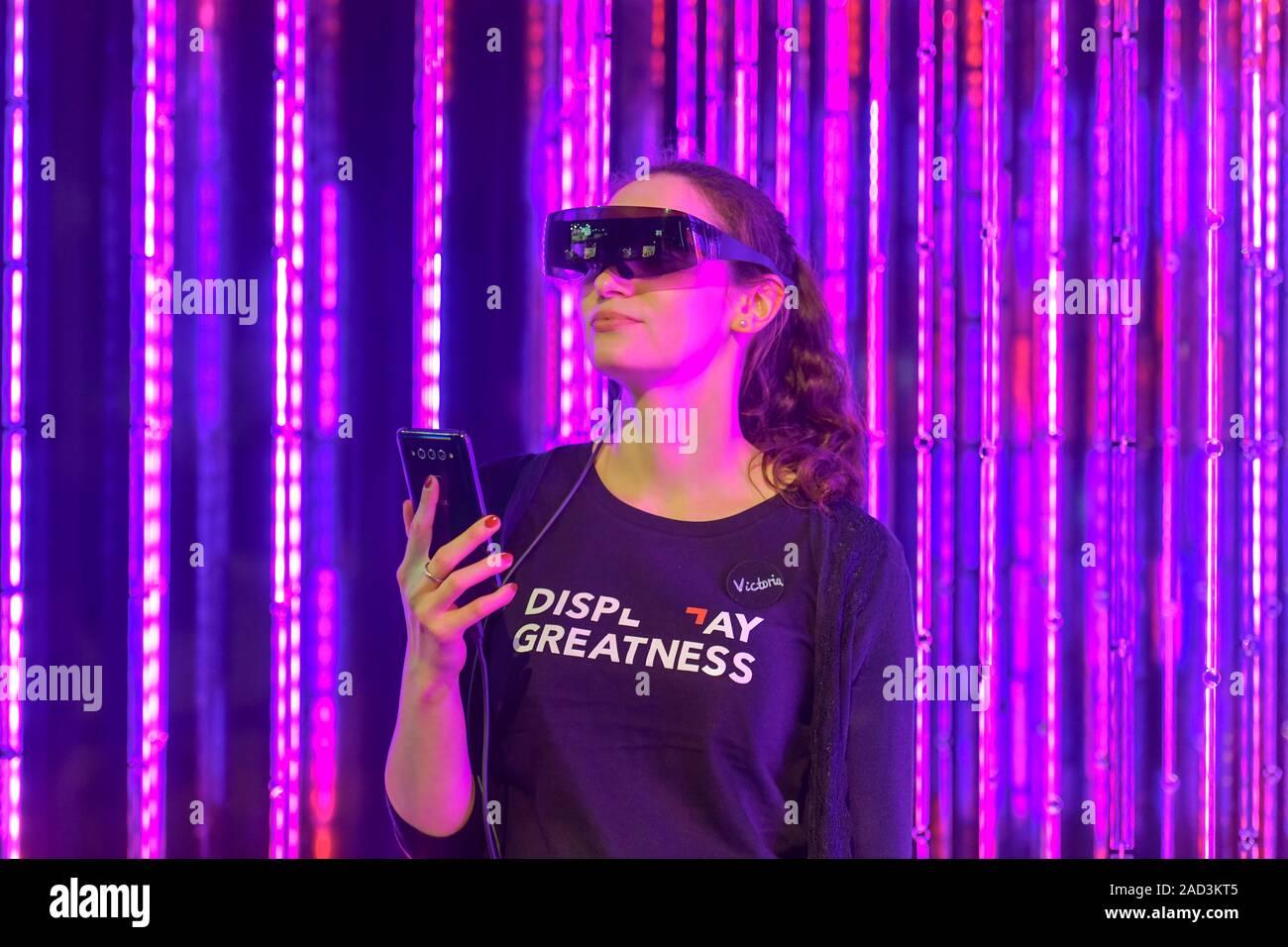 Datenbrille, TCL, Expérience Plex Internationale Funkaustellung, 2019 Berlin, Deutschland Banque D'Images