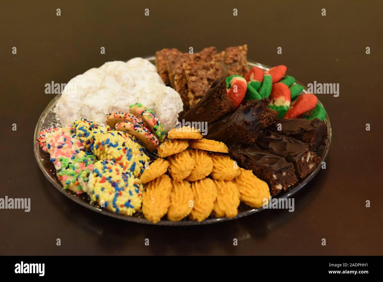 Assortiment de biscuits de Noël de diverses saveurs Banque D'Images