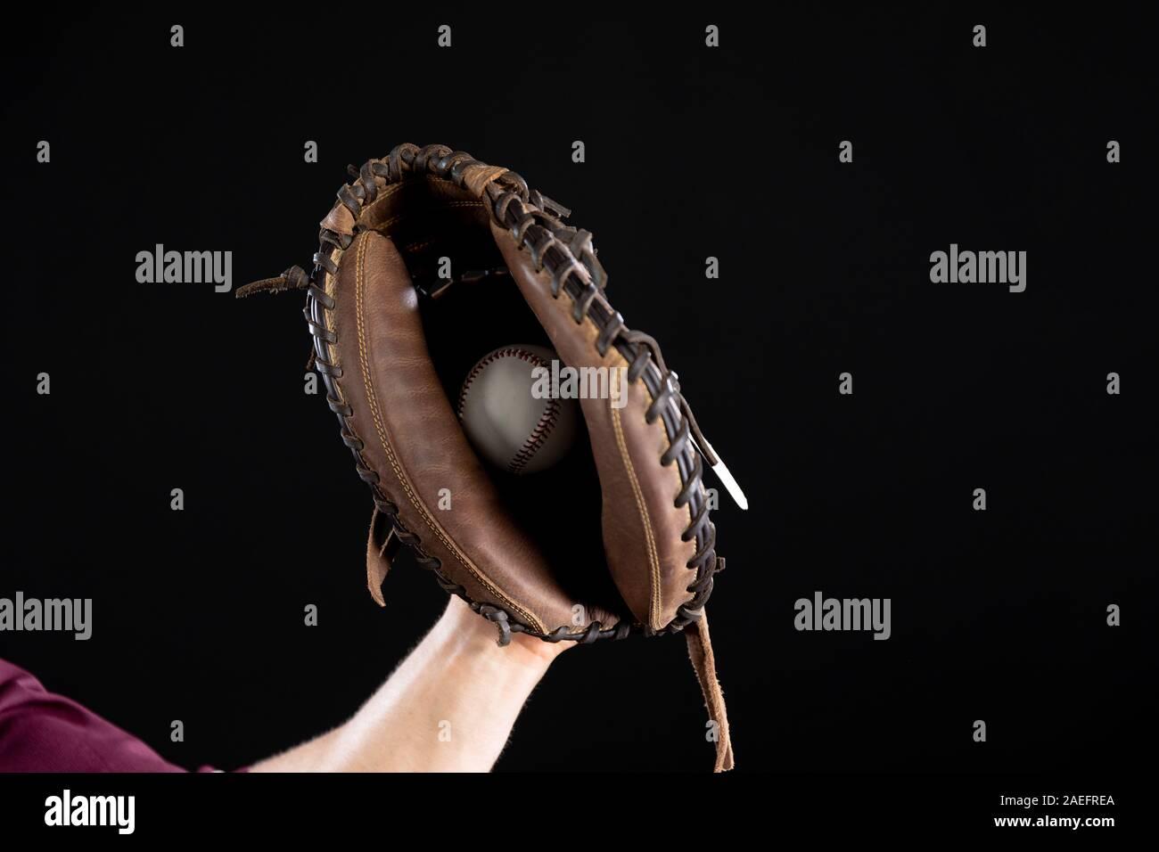 Joueur de baseball Banque D'Images