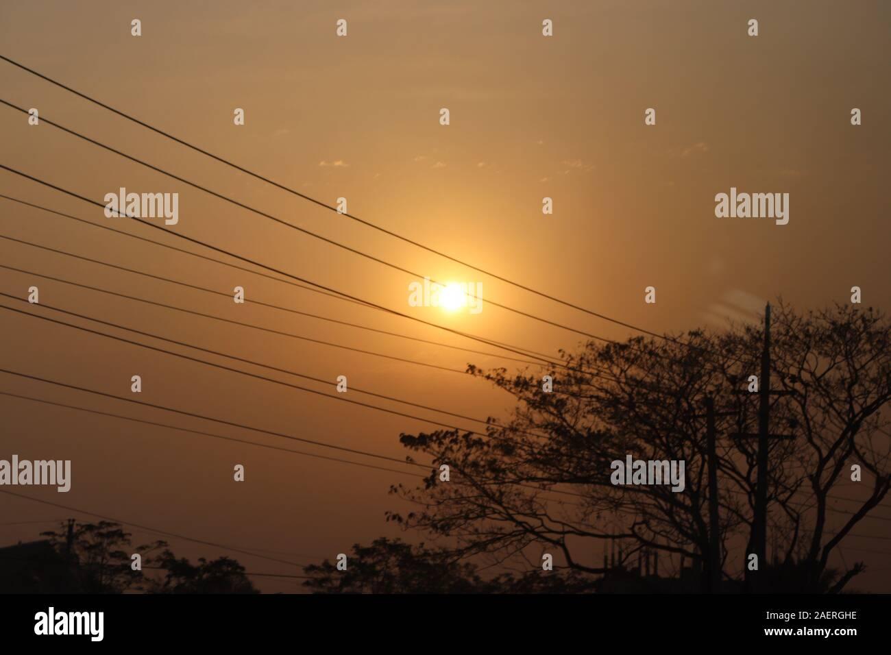 Entre ciel soleil Banque D'Images