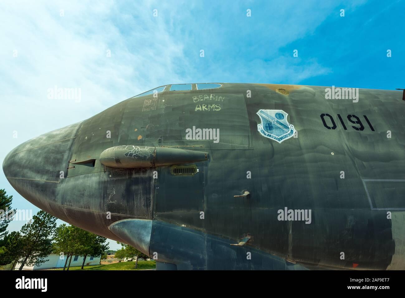 Le nez d'un avion B52 Historique Banque D'Images