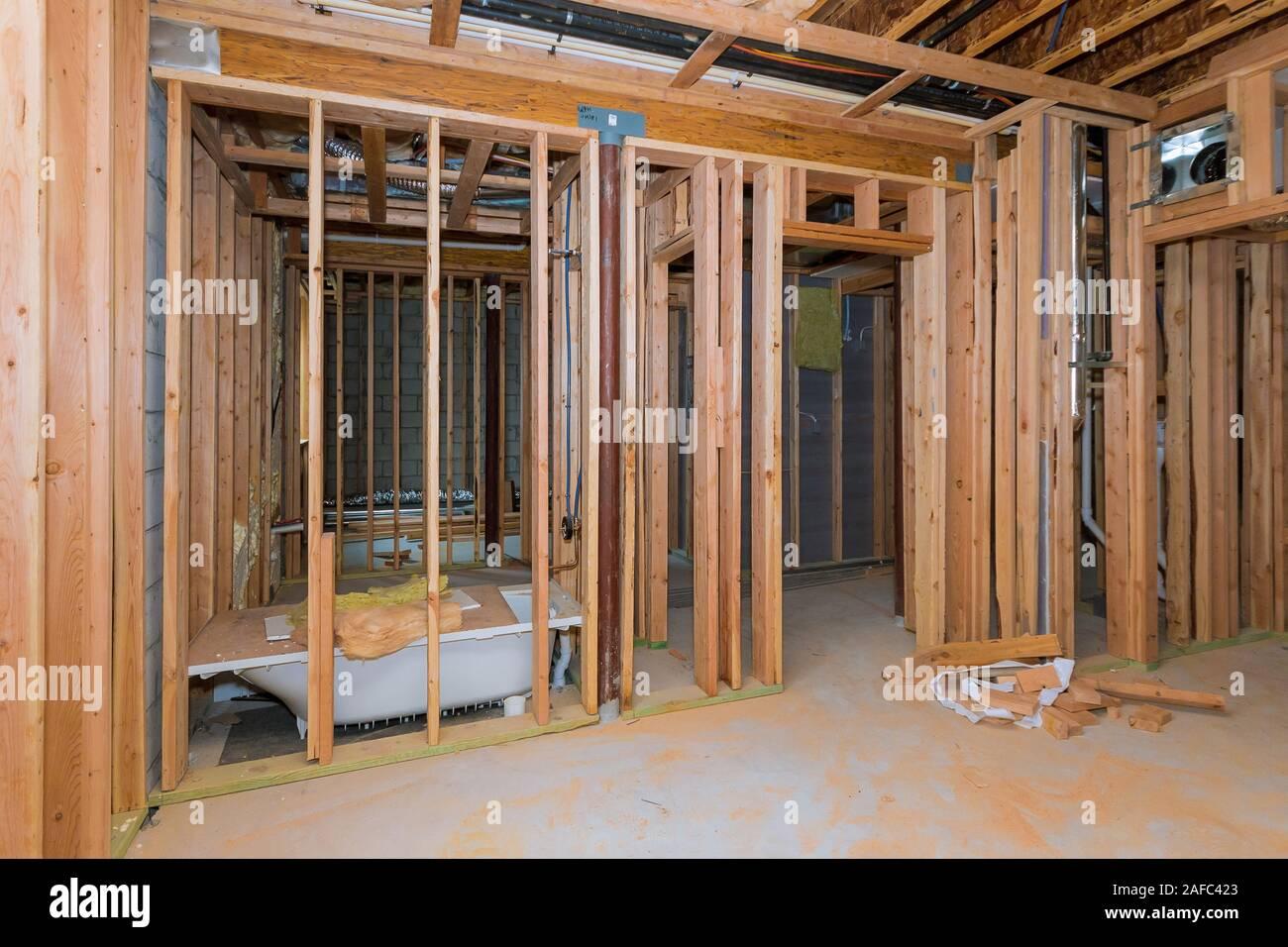 Plomberie Salle De Bain Sous Sol travaux de plomberie salle de bains montrant l'installation