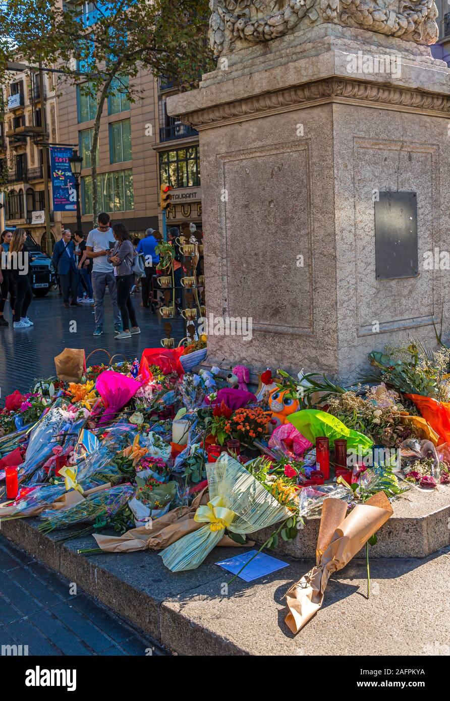 Memorial à Barcelone Banque D'Images