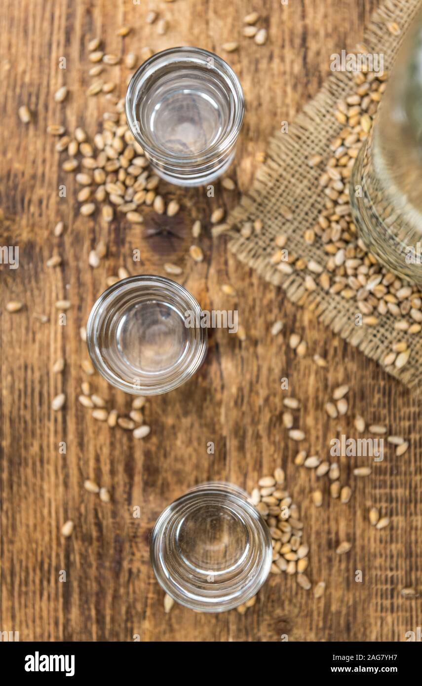 Partie de la Liqueur du blé comme détaillé close-up shot, selective focus Banque D'Images