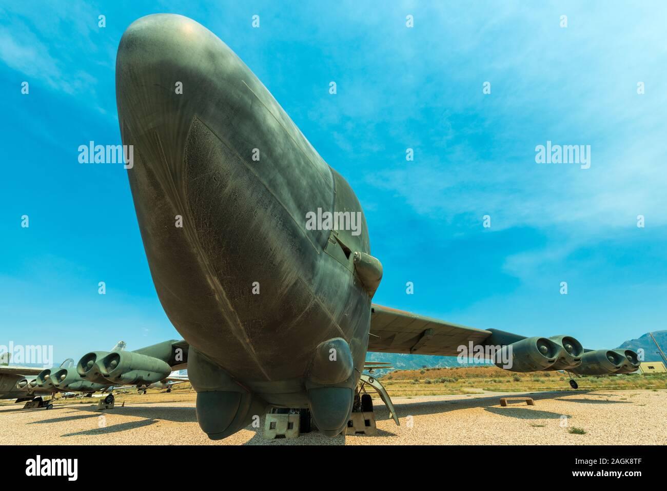 Le nez d'un bombardier B52 Historique Banque D'Images