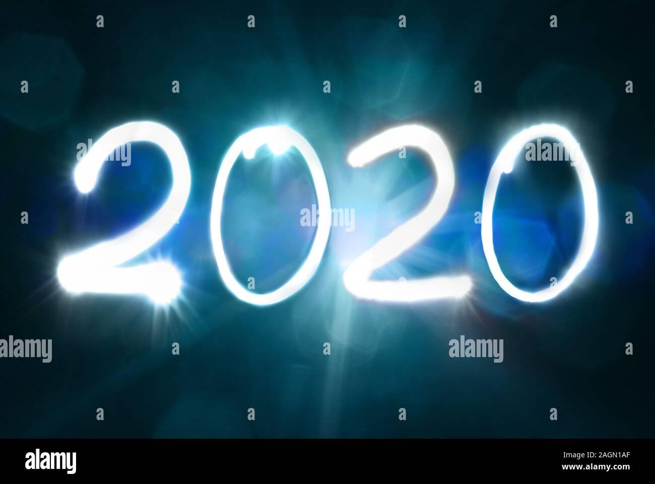 2020 Nouvel an l'exposition vingt deux mille Banque D'Images