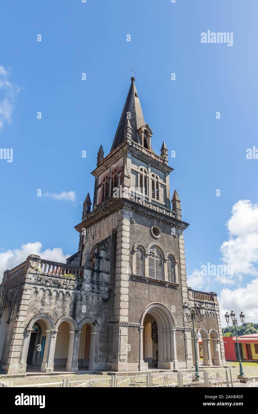 Eglise Notre Dame à Morne-Rouge en Martinique, France Banque D'Images