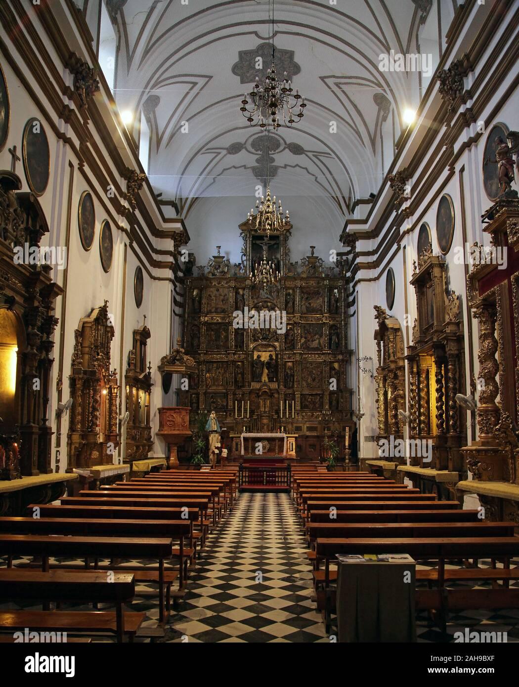 Intérieur de la Cathédrale Notre Dame de l'Incarnation / 'la Cathédrale' dans le centre-ville de Malaga Costa del Sol Andalousie Espagne Banque D'Images