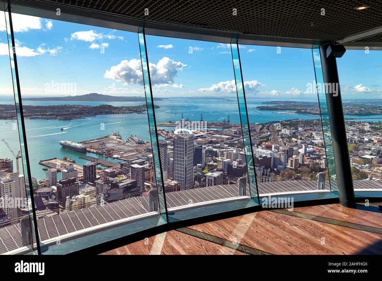 Vue aérienne de Auckland New Zealand Banque D'Images