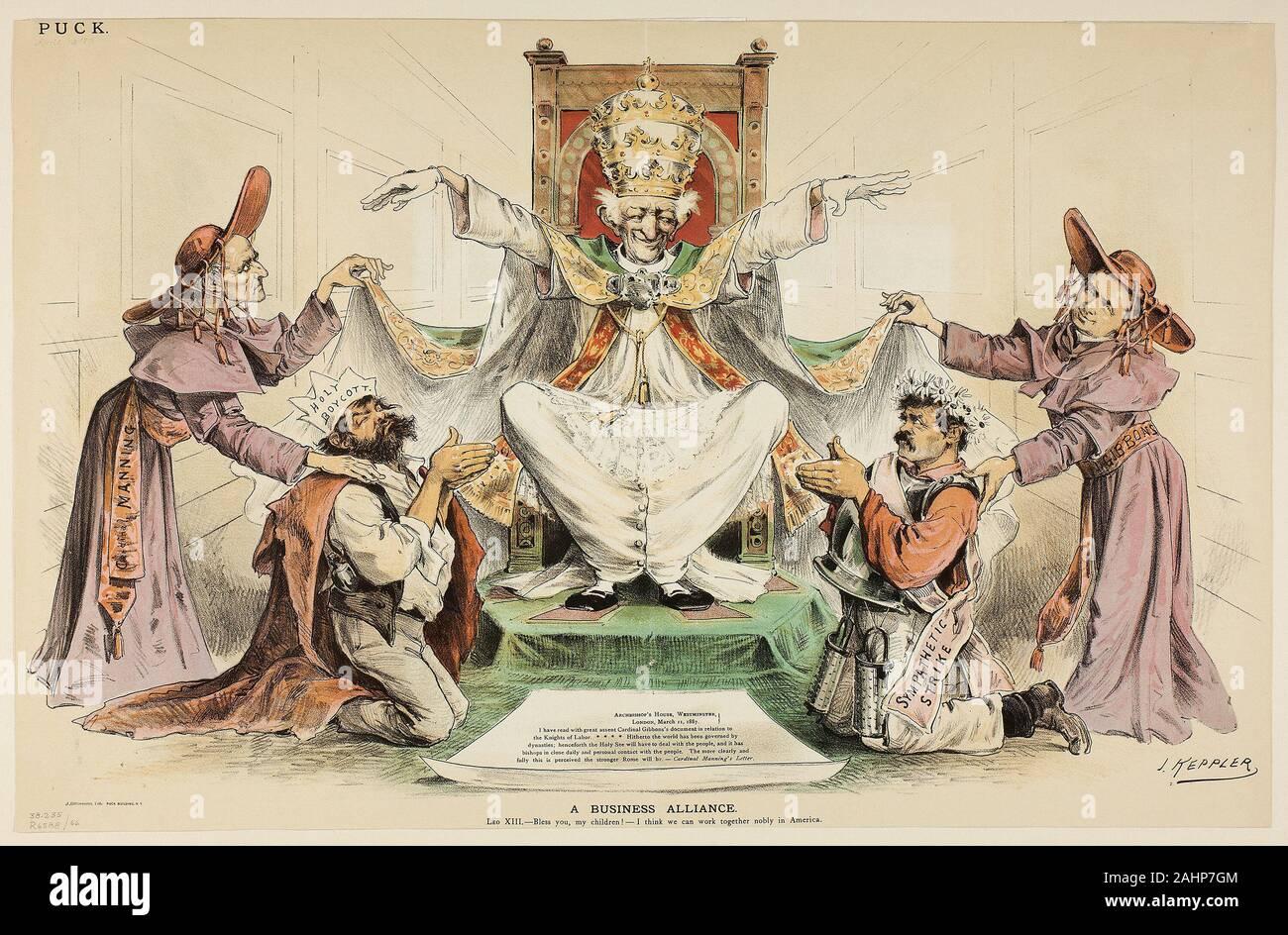 Joseph Keppler Une Alliance D Affaires 1887 United States Lithographie Couleur Sur Papier Journal Photo Stock Alamy