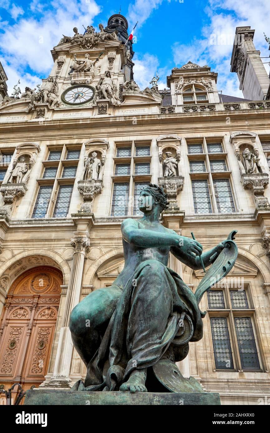 Hôtel de Ville, Paris, France Banque D'Images