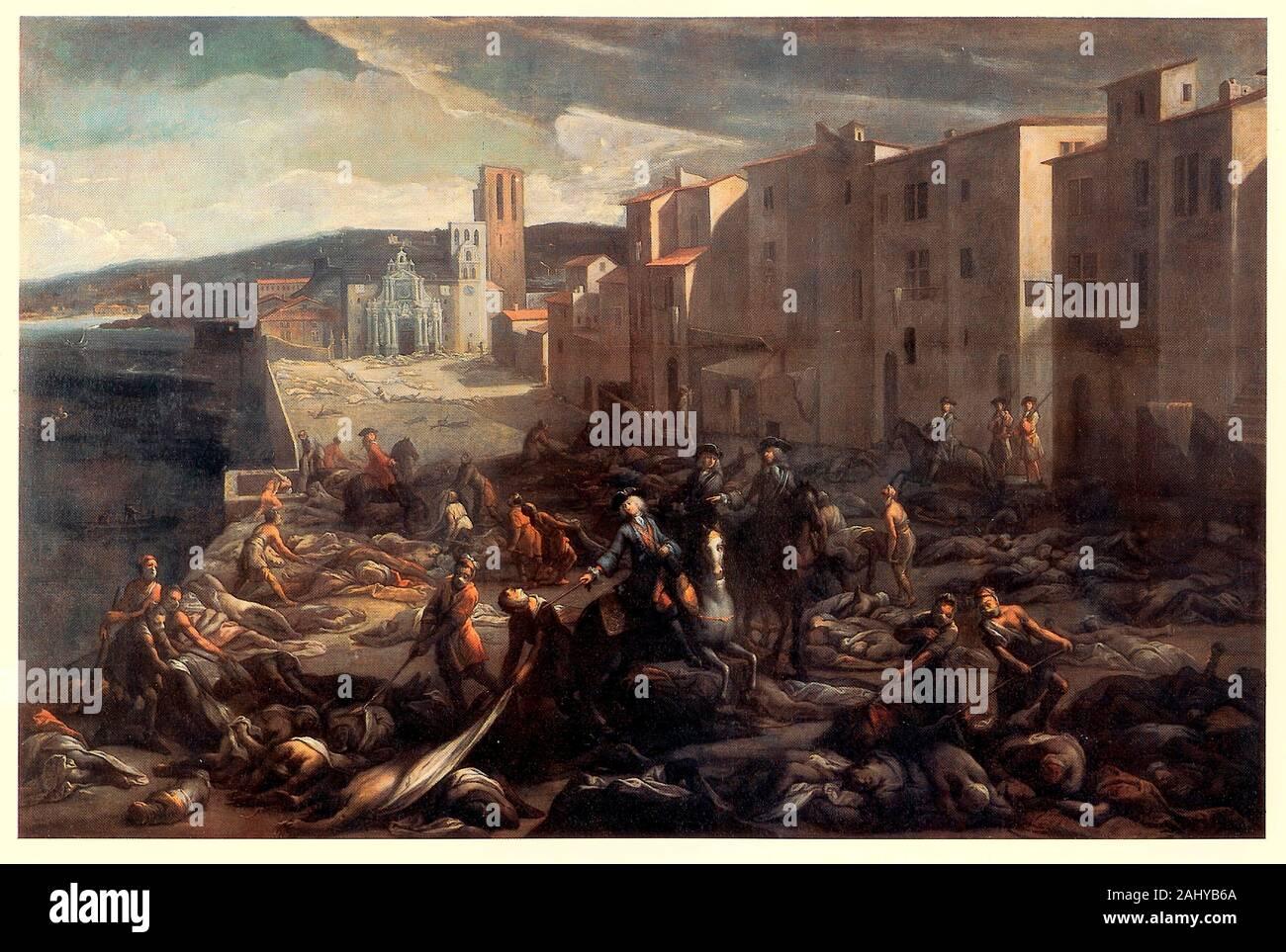 Scène de la peste de 1720 à La Tourette (Marseille), par Michel Serre Banque D'Images