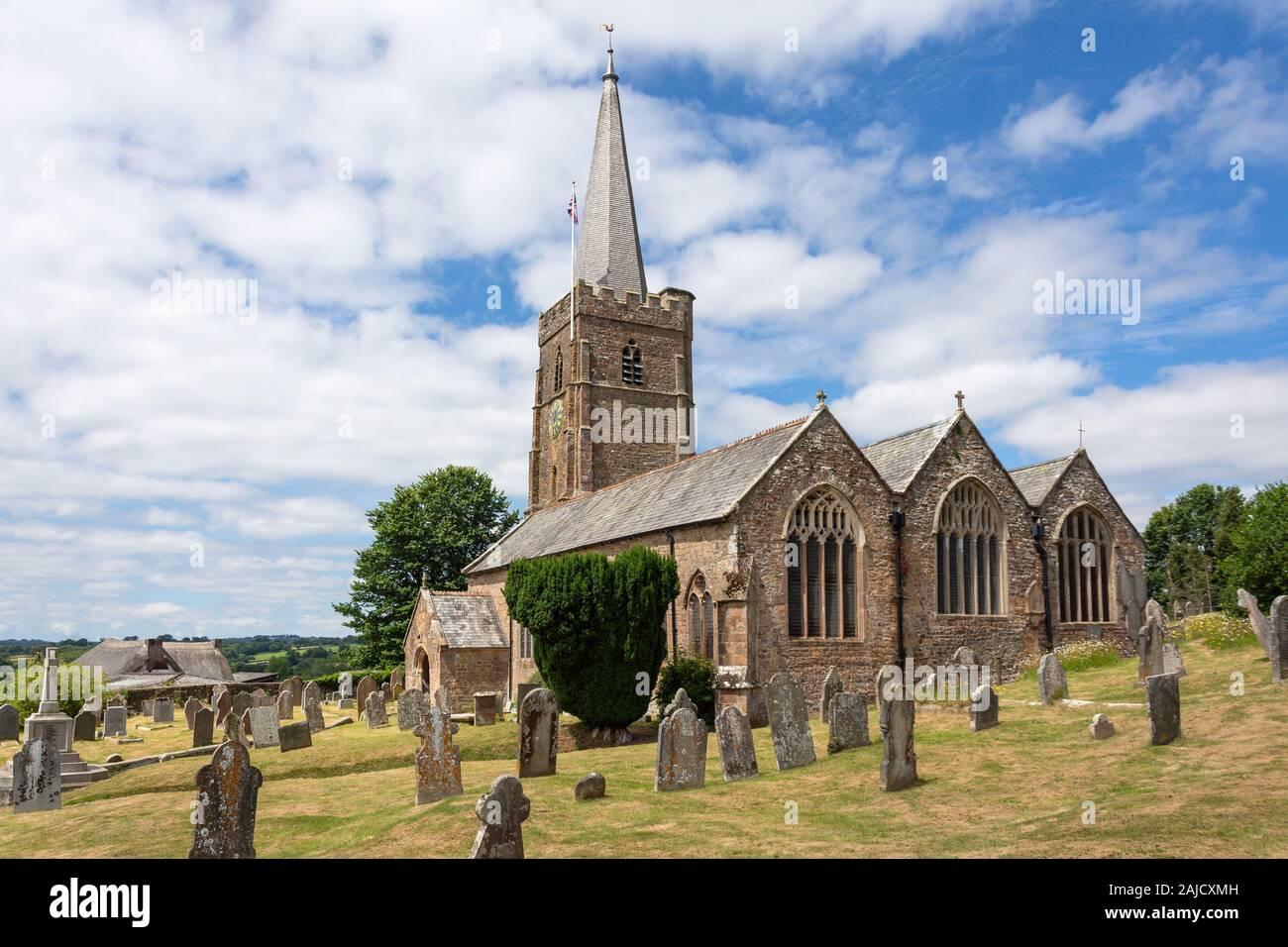 St John the Baptist Church, Church Lane, Hatherleigh, Devon, Angleterre, Royaume-Uni Banque D'Images