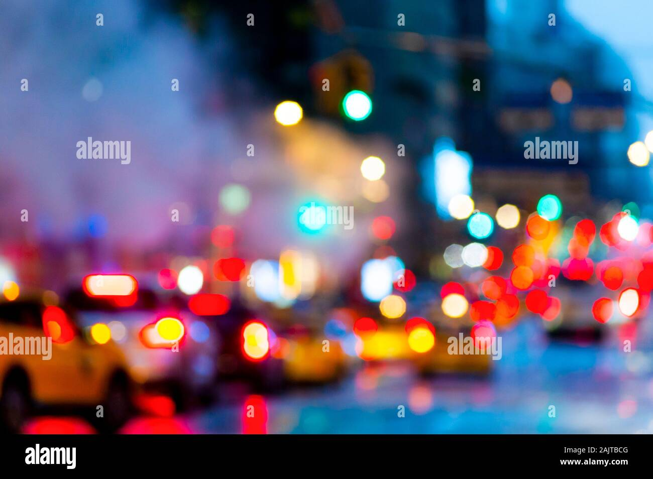 Abstract City Scene New York Banque D'Images