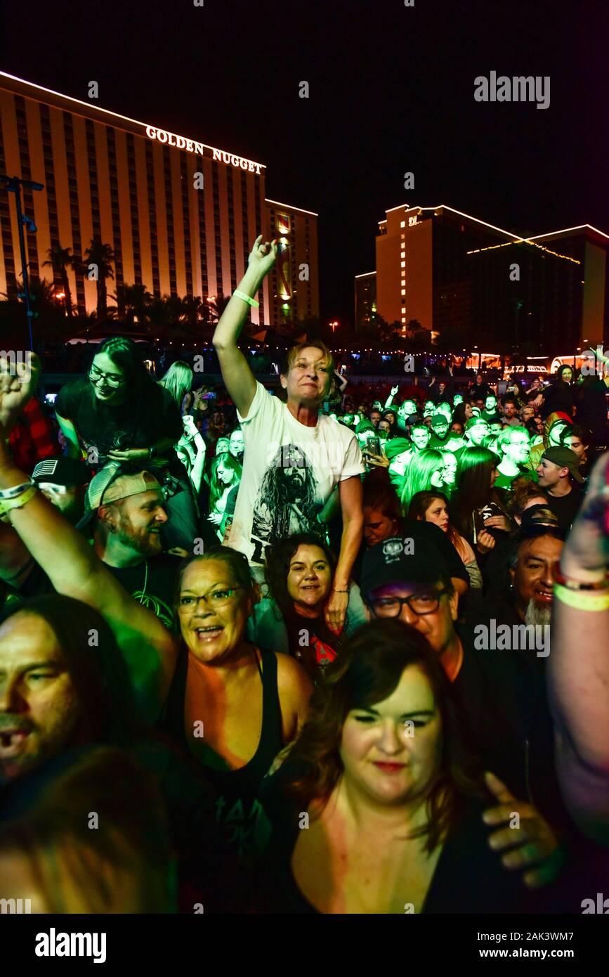 Las Vegas Concert foule Banque D'Images
