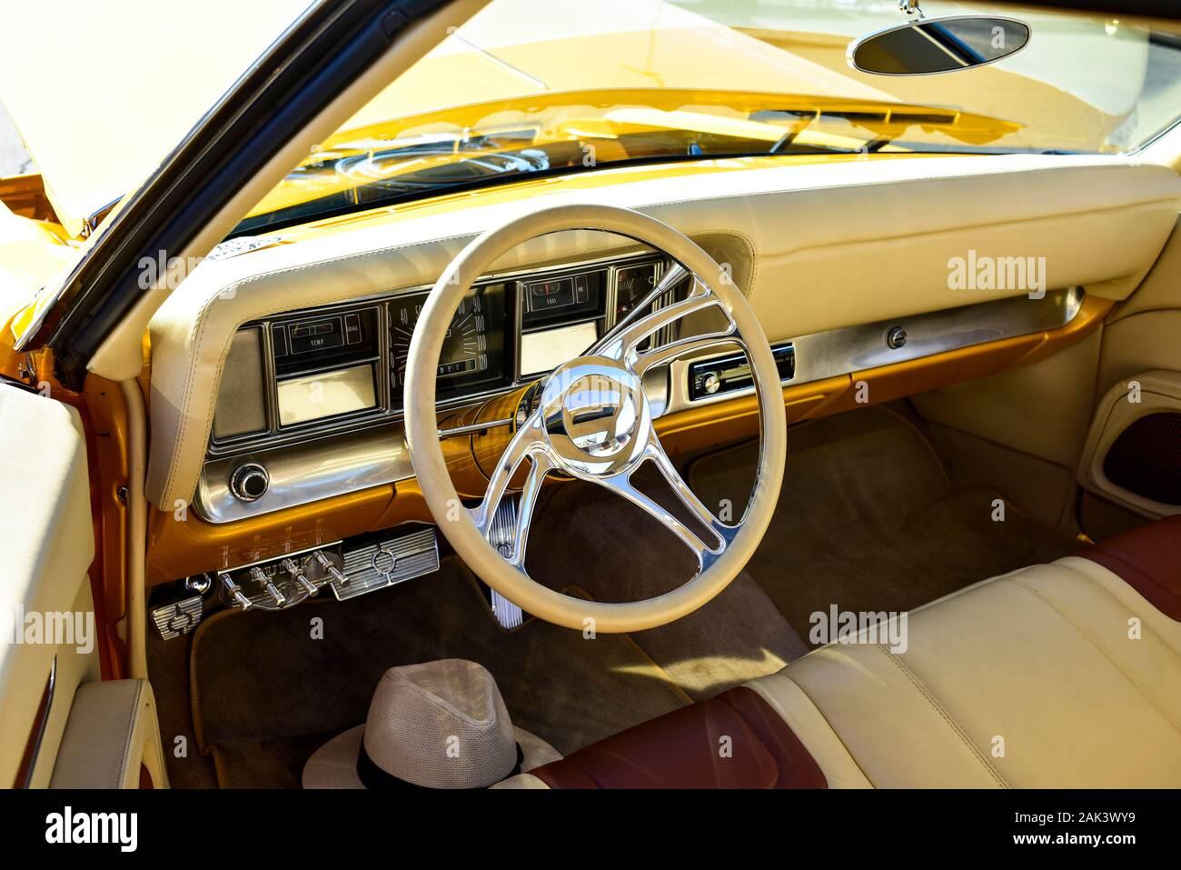 1969 Buick Riviera Interior Banque D'Images