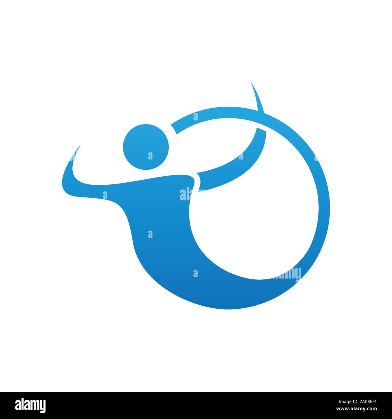Résumé Les gens logo design image. Logo couleur gradient personnes vecteur vecteur conception de style abstrait en image de logo Illustration de Vecteur