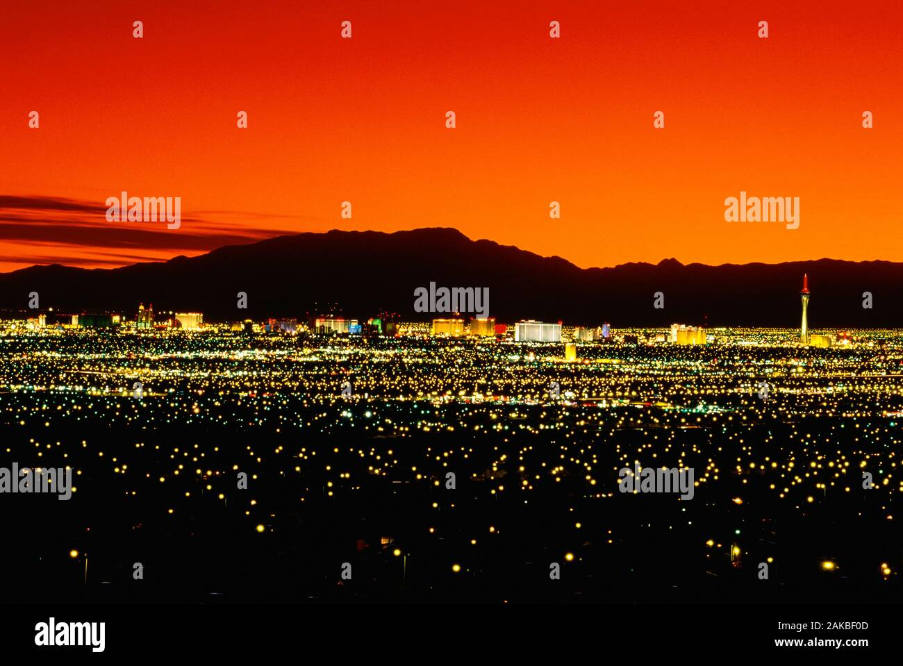 Cityscape at night, Las Vegas, Nevada, USA Banque D'Images