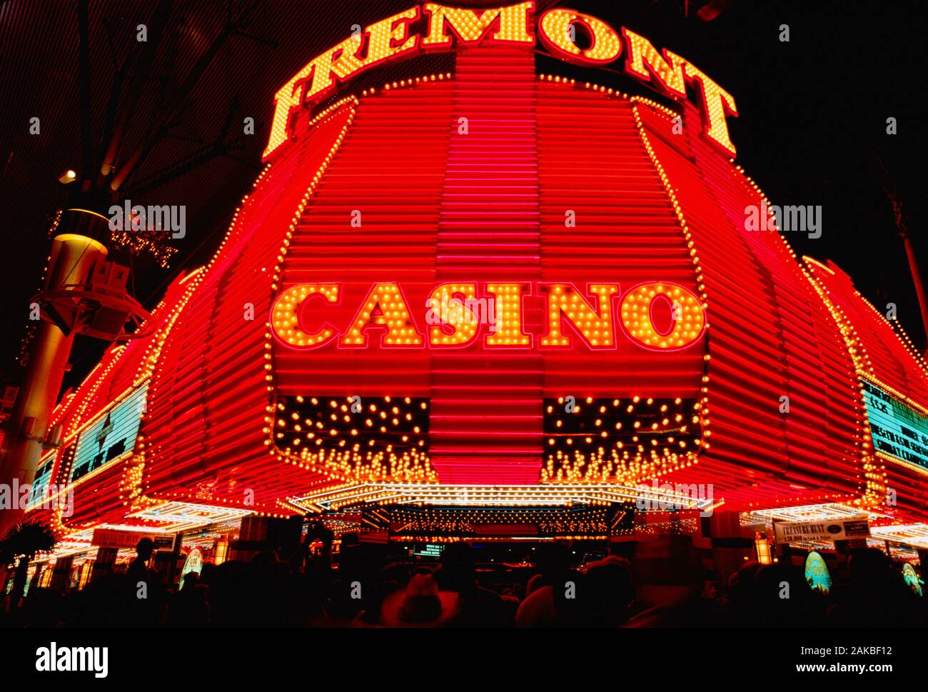 Fremont Casino le soir, Las Vegas, Nevada, USA Banque D'Images