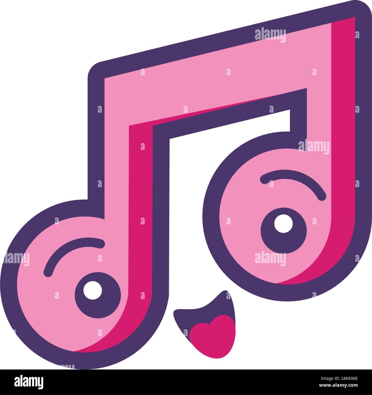 Music Note Kawaii Character Vector Photos Music Note Kawaii