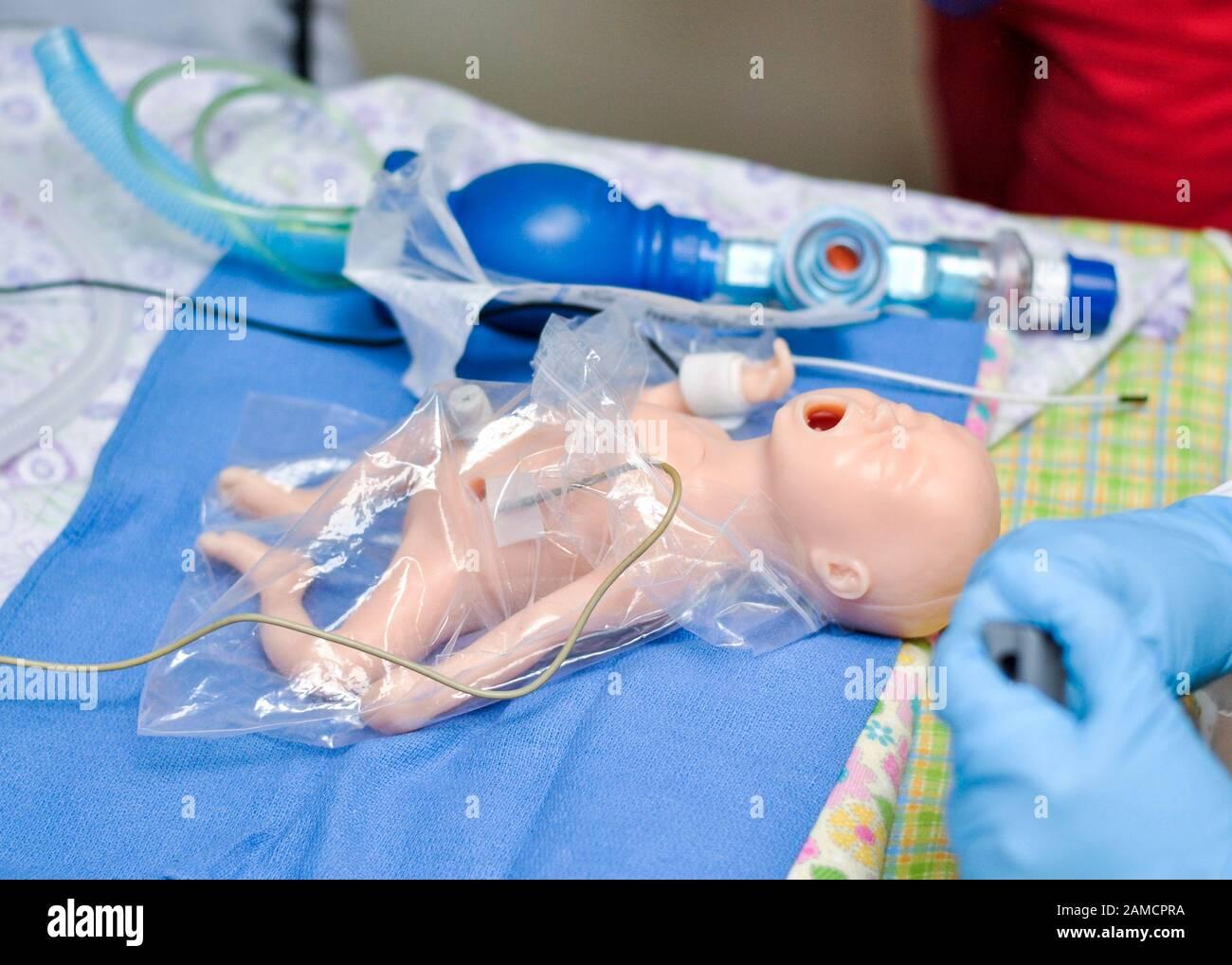 masque bebe hopital