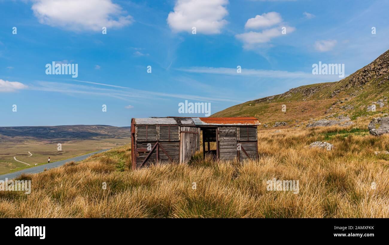 Un site abandonné près de la remorque B6270 route entre Nateby et Birkdale, North Yorkshire, England, UK Banque D'Images